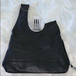 NWT ILI New York LEATHER bag